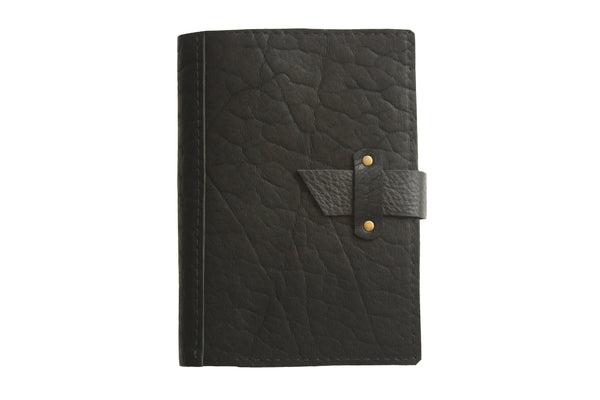 Dispatch Leather Journal Cover in Black by Heist