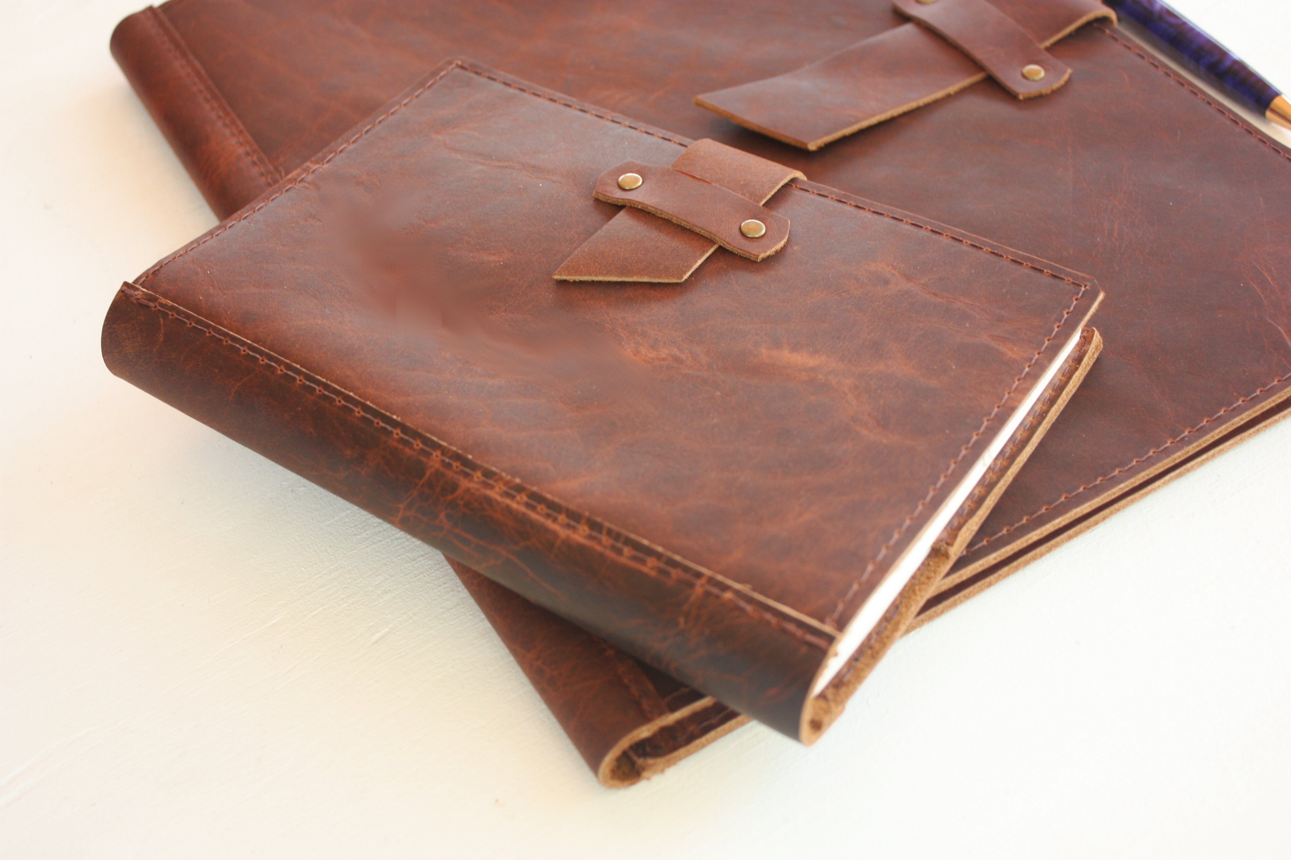 Dispatch Leather Journal and Notepad Covers in Rust