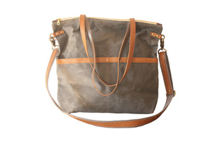 Open image in slideshow, Waxed Canvas Tote