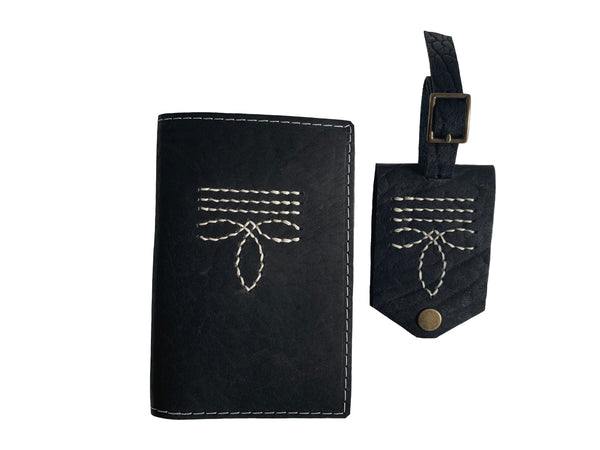 Traveler Gift Set | Black Bootstitch
