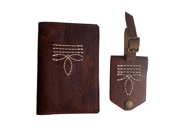 Bootstitch Leather Passport Cover in Rust by Heist