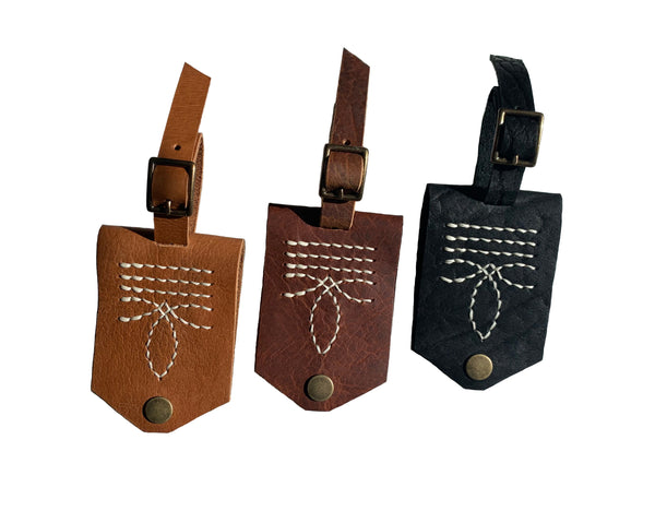 Bootstitch Leather Luggage Tags by Heist