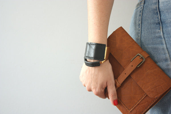 Jensen Wide Leather Cuff with Rewild Leather Journal