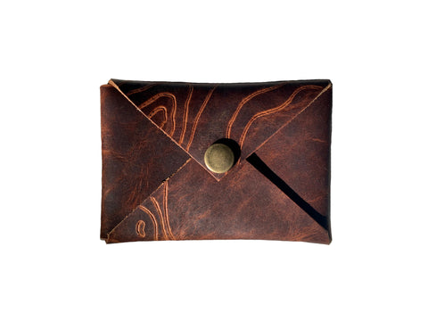 Minimal Wallet with Topographic Map Pattern by Heist