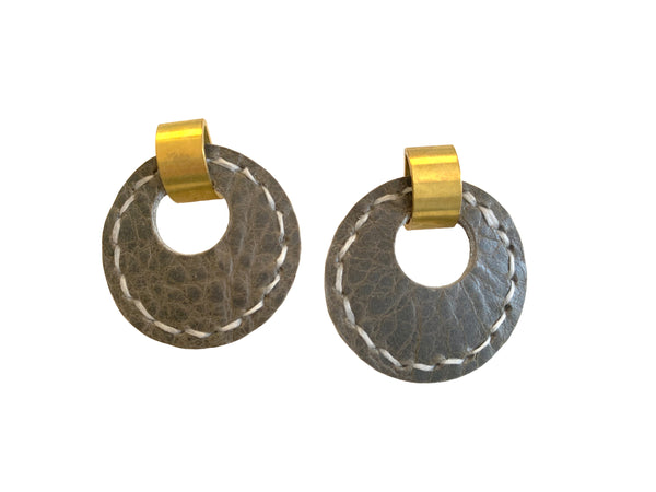 Majeure - 70s Style Drop Earrings in Gun Metal