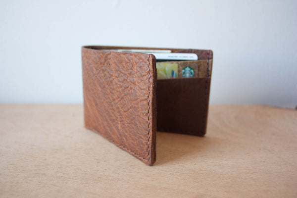 Handmade Leather Wallet Bifold in Rust by Heist