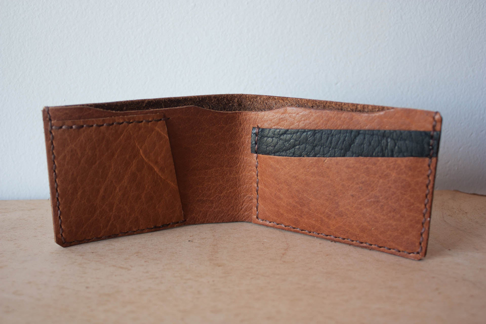Handmade Leather Wallet Bifold in Camel by Heist