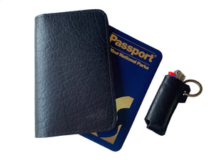Passport to Your National Parks Leather Cover - Black