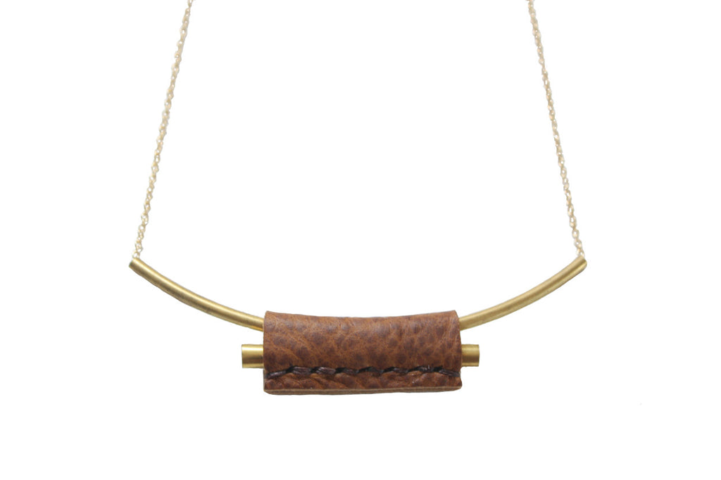 Layered Choker Necklace | Camel
