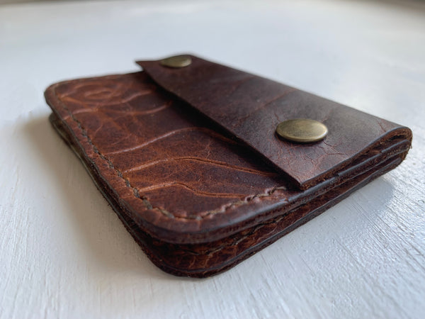 Bison Wallet with Contour Line Topographic Pattern