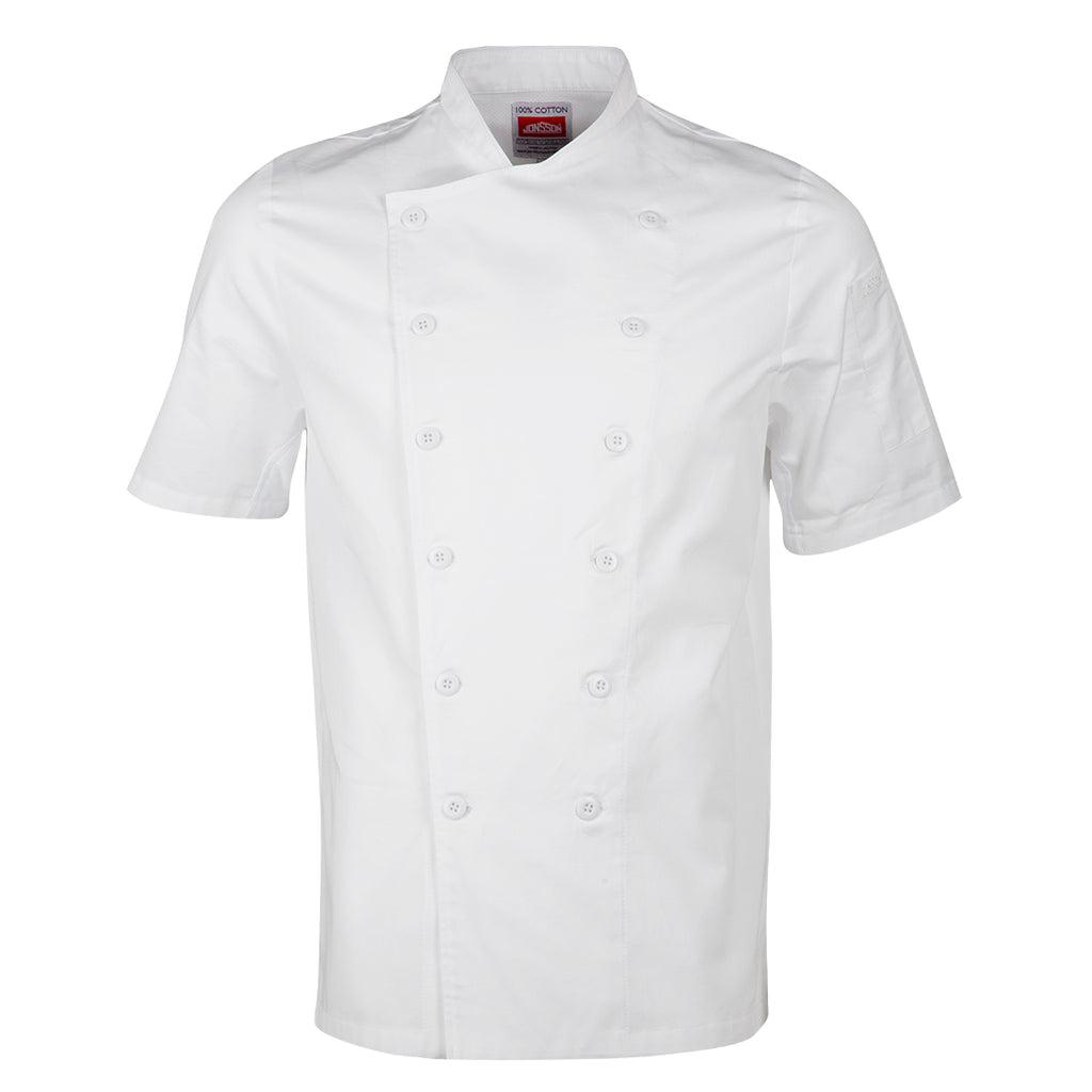 Chef Jacket - Short Sleeve -White