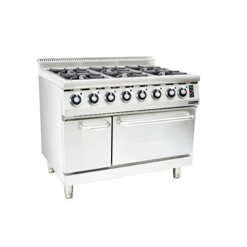 6 burner stove with oven