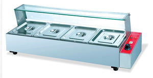 Bain Marie 4 insert Table Top 4 feet