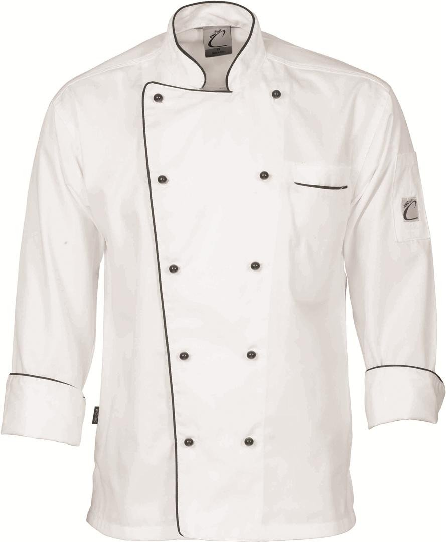 Chef Jacket Executive -Long Sleeve -White and Black