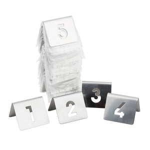 Stainless Steel - Table Numbers / Set