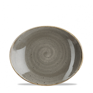 Oval Plate - Peppercorn Grey