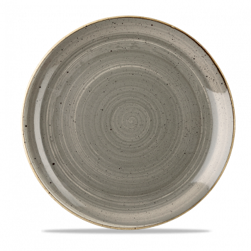 Coupe Plate - Peppercorn Grey