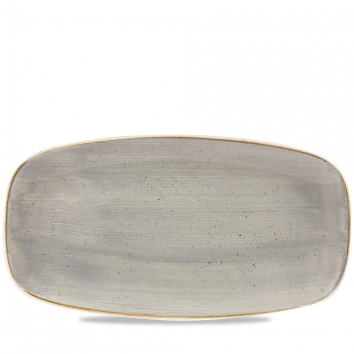 Oblong Plate - Peppercorn Grey