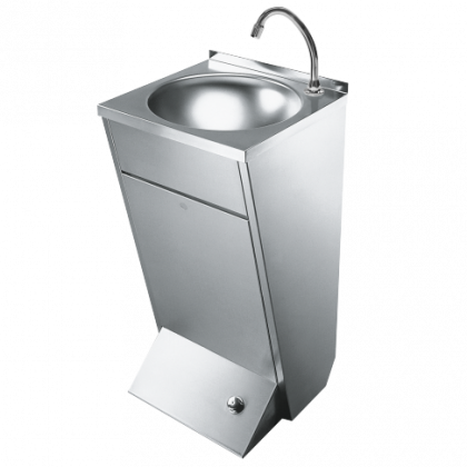 Foot Operated Heavy Duty Stainless Steel Floor Standing Wash Basin