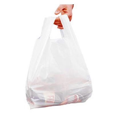 Carrier Bag - White (100pcs)