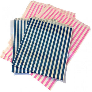 Longboxes Pack Of 1000 21.60cm x 27.95cm Striped Bleached Kraft Paper Bags