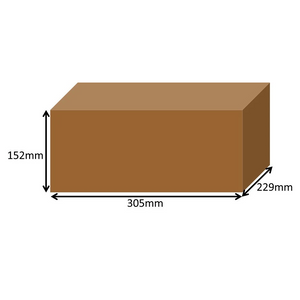 305 x 229 x 152mm Long Cardboard Boxes - Single Wall
