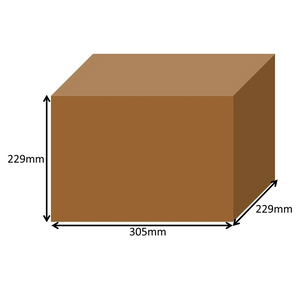 305 x 229 x 229mm Long Cardboard Boxes - Single Wall