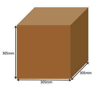 305 x 305 x 305mm Square Cardboard Boxes - Single Wall