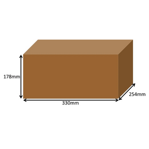 330 x 254 x 178mm Long Cardboard Boxes - Single Wall