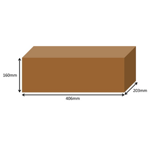 406 x 203 x 160mm Long Cardboard Boxes - Single Wall