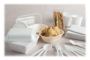 Longboxes 340ml Polystyrene Food Container Box Large Tub 12 oz 500 Pack/Box