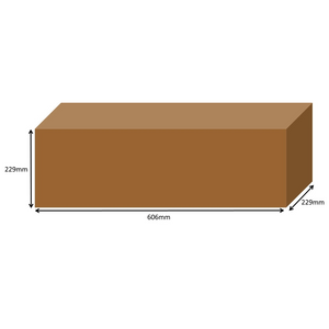 606 x 229 x 229mm Long Cardboard Boxes - Single Wall
