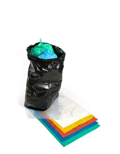 Longboxes 45cm x 73cm x 99cm White Refuse Sacks Recycled Waste Bin Bags 200Pack