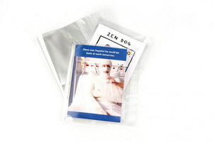 Longboxes 1000 Cellophane Self Seal Clear Greeting Card Bags 12cm x 17cm + 3cm
