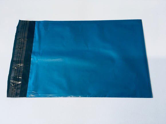 Blue Polythene Mailing Bag 56 x 43cm Medium Strength