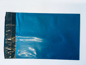 Blue Polythene Mailing Bag 23 x 16.5cm Medium Strength