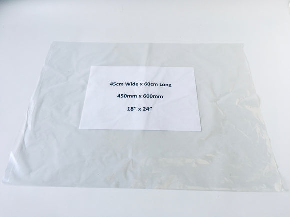 Large Clear Polythene Bag 60 x 45cm Medium Strength