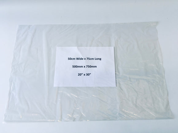 Large Clear Polythene Bag 75 x 50cm Medium Strength