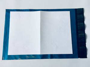 Blue Polythene Mailing Bag 35 x 24.5cm Medium Strength A4 Size