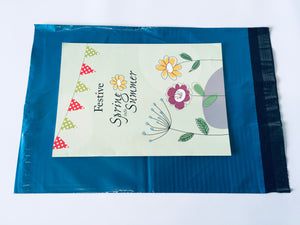 Blue Polythene Mailing Bag 40 x 30cm Medium Strength