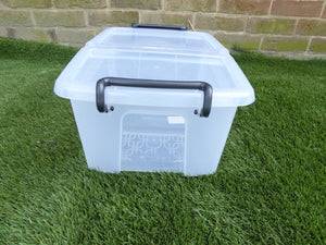 Small 12Ltr Storage Box And Lid 40 x 28.5 x 18cm
