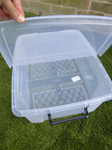Medium 24Ltr Storage Box And Lid 49 x 39 x 19cm