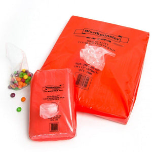 Longboxes Polythene Bags 22cm x 30cm Clear Candy Bag in Dispenser Pouch 1000Pack