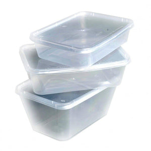 Longboxes 1000ml Take Away Container Food Storage Tubs With Lid 250-PCS per Box