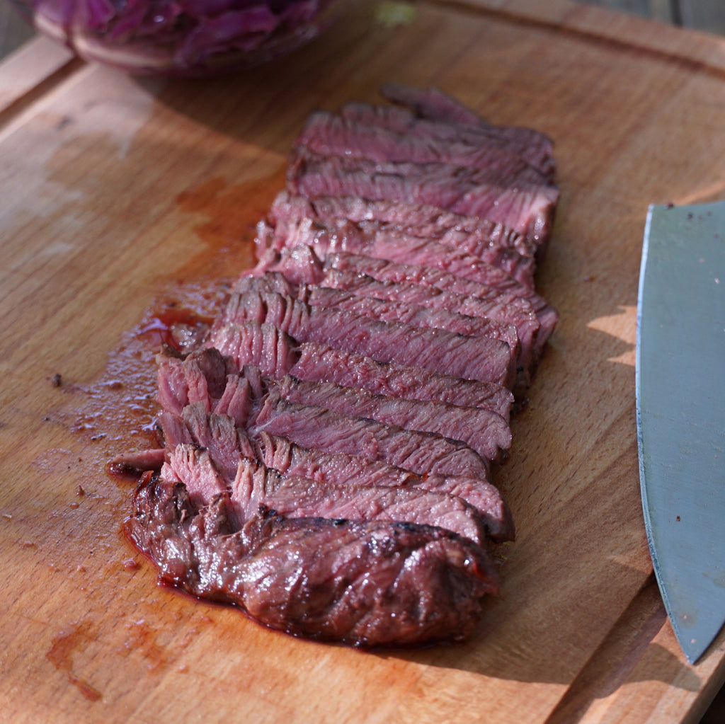 sliced sirloin steak