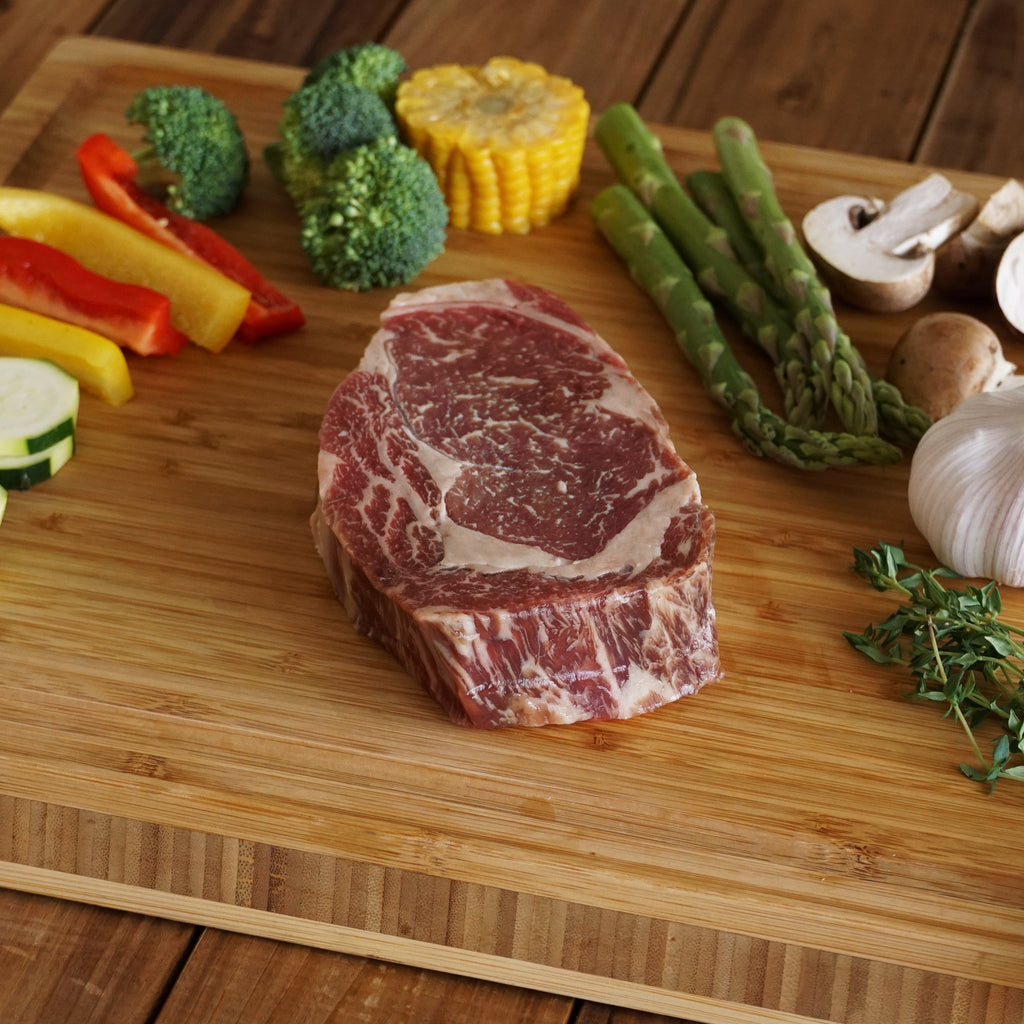 ribeye steak cutting board