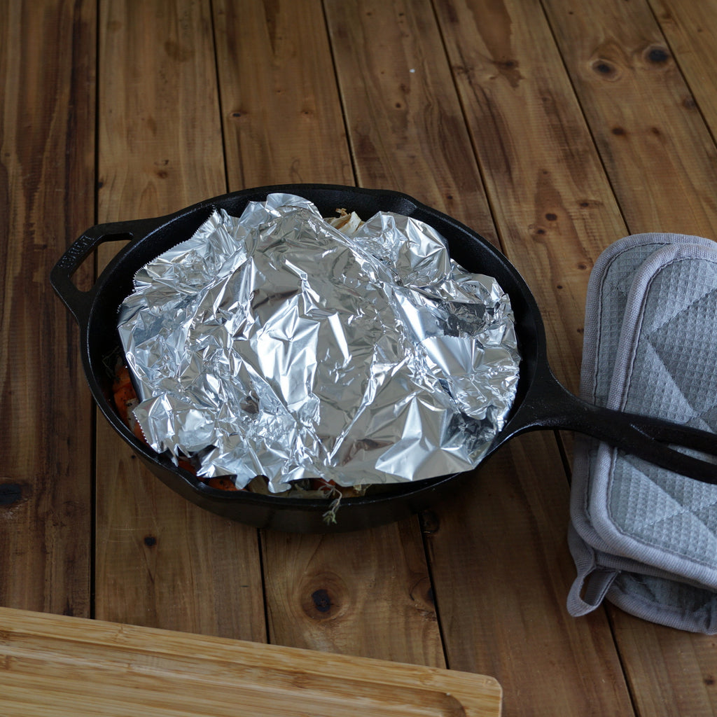 covered roast with aluminum foil