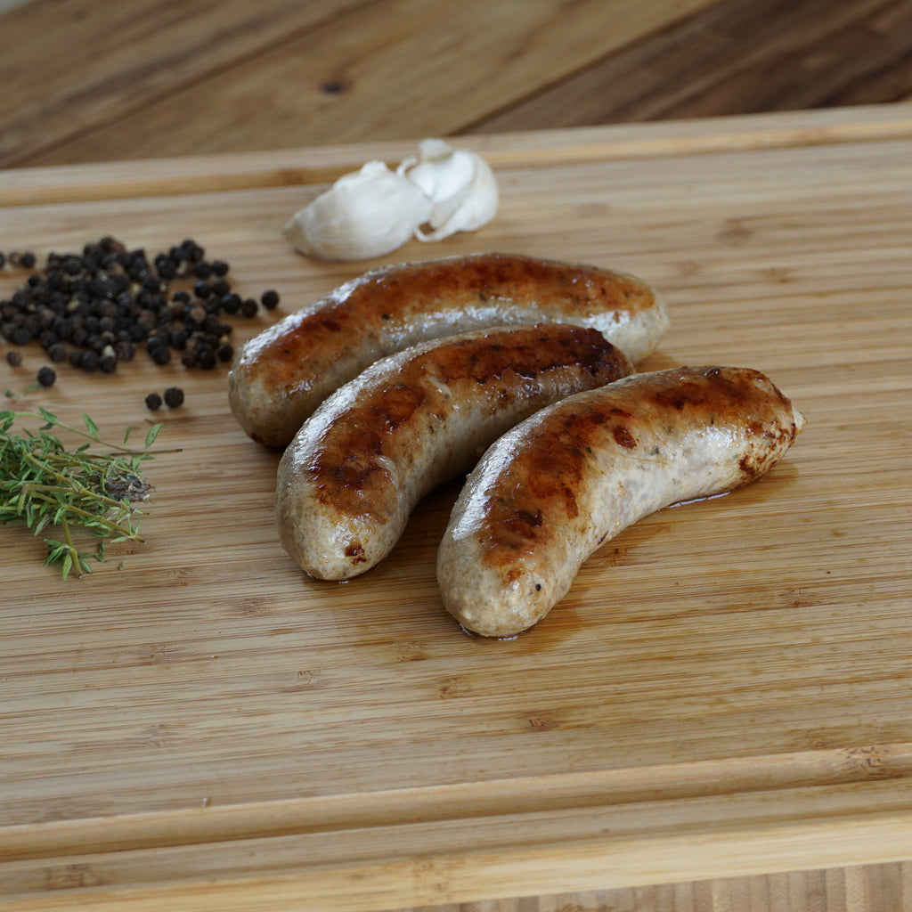 country style sausage cooked