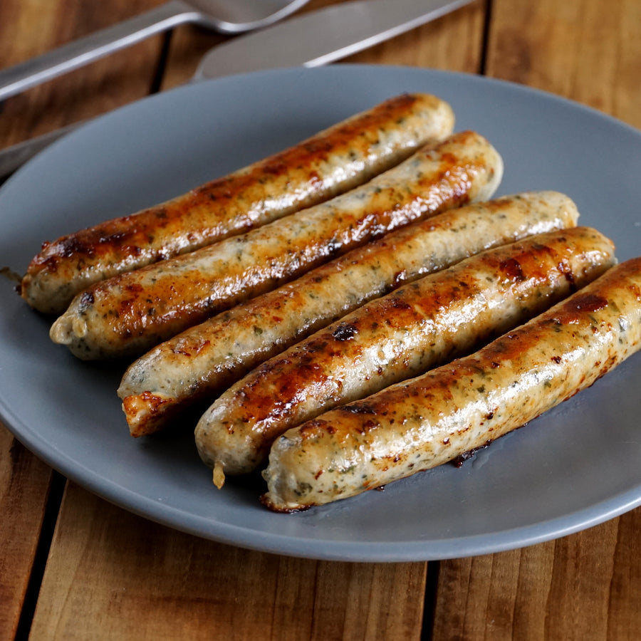 New Zealand Certified Organic Free-Range Sugar-Free Chicken Sausages (5pc) - Horizon Farms