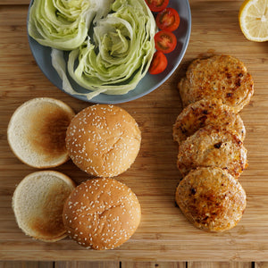 All-Natural Free-Range Pasture-Raised Sugar-Free Chicken Burgers (2pc) - Horizon Farms